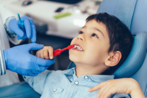 Image of child brushing teeth for Murfreesboro Family Dentistry